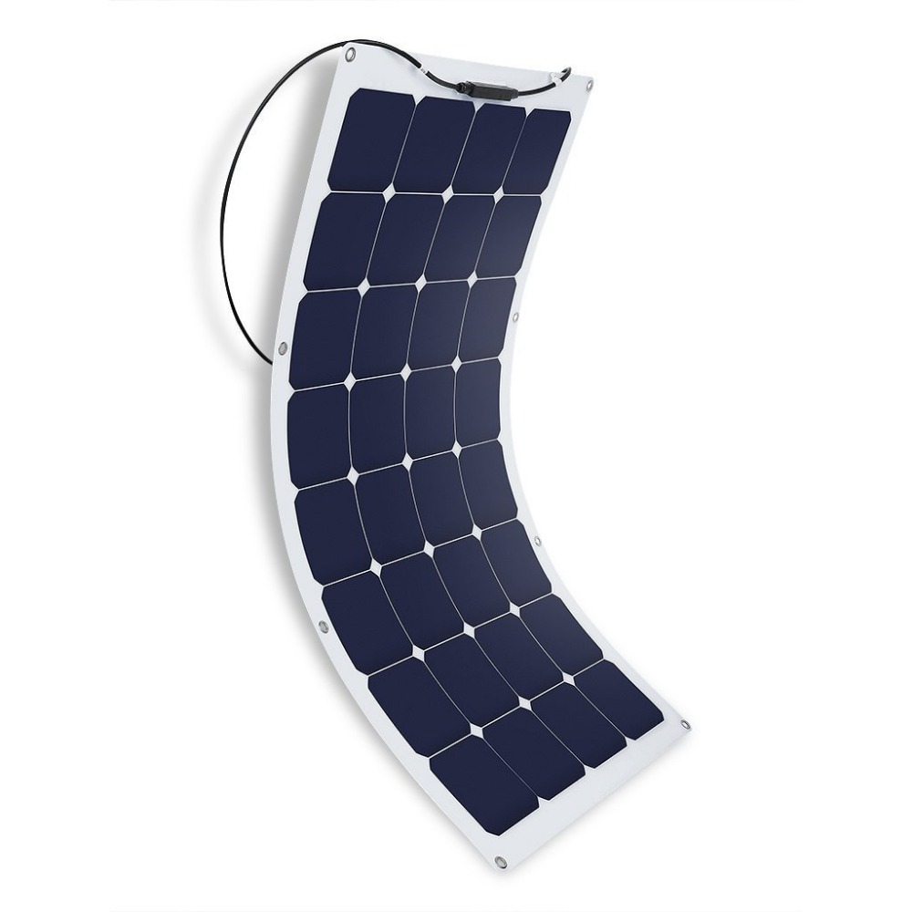 100W High Quality rollable amorphous silicon thin film flexible solar panel for RV boats marine