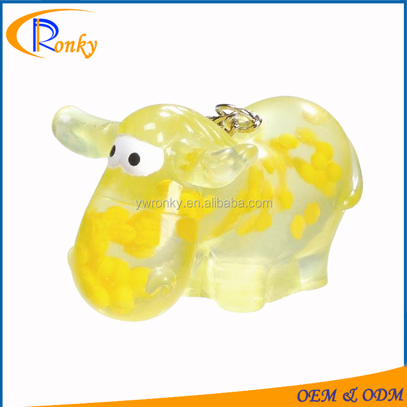 Plastic key holder hanger with key chain mini plastic sheep toys