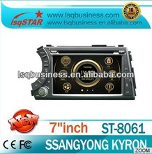 Hot Sell LSQ Star Car Audio Player For Ssangyong Kyron With Autoradio Gps Navigation+Virtual 6cd+Bt Phonebook+3g+full Function