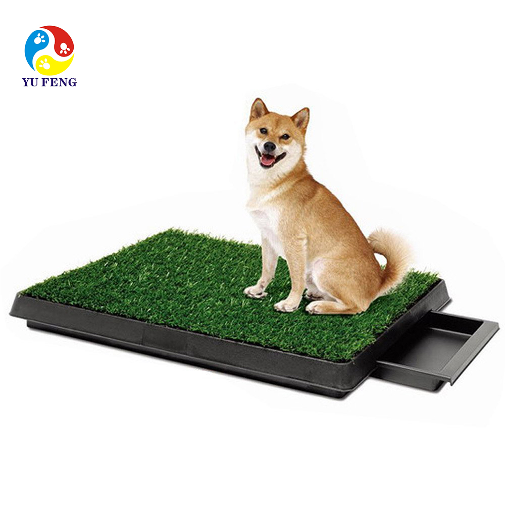 2015 new pet hot selling with artificial grass pet potty and pet park