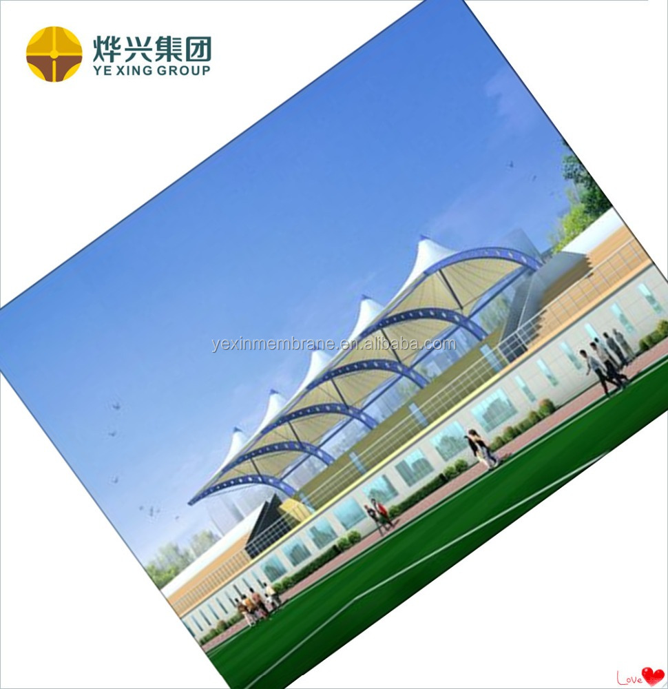 Stadium Membrane structure PTFE membrane tent for sports with steel structure