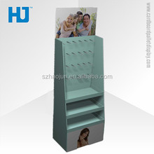 Customized cardboard display racks with hooks for cell phone accessories
