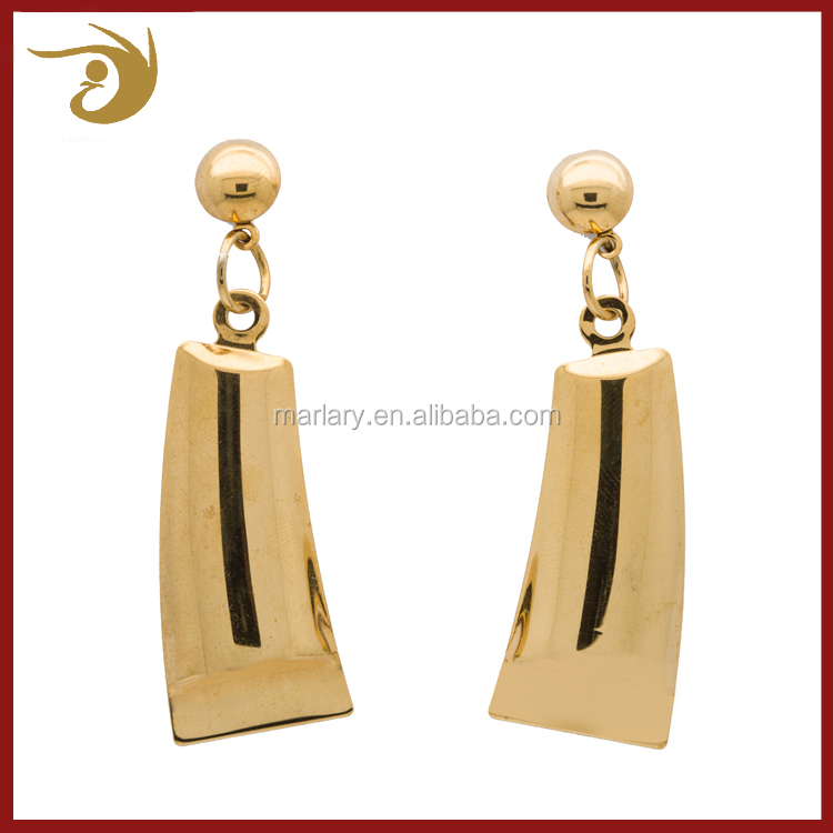 14K Gold Light Weight Gold Earrings,Dubai Saudi Gold Earrings Top Design,Women Earrings