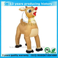 vivid design inflatable christmas reindeer