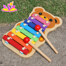 Hand wooden music toy for kids,Lovely wooden toy music for children,Music instrument set cute wooden xylophone toy W07C036