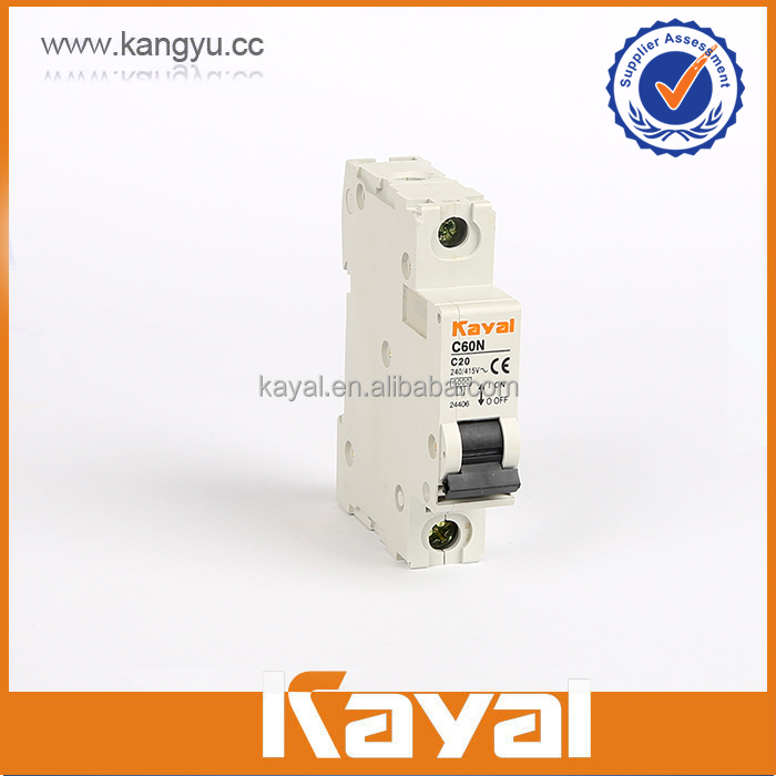 Hot sale C60N 230/400V AC brand circuit breaker,single pole n circuit breaker