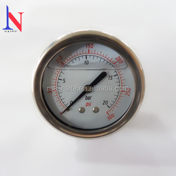 "2 1/2"" Oil Filled Air Compressor Pressure Gauge, Manometer"