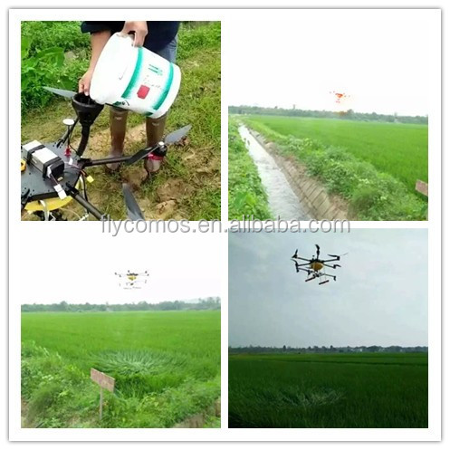 2016 5L Professional heavy load Crop agricultural drone sprayer GPS machinery equipment
