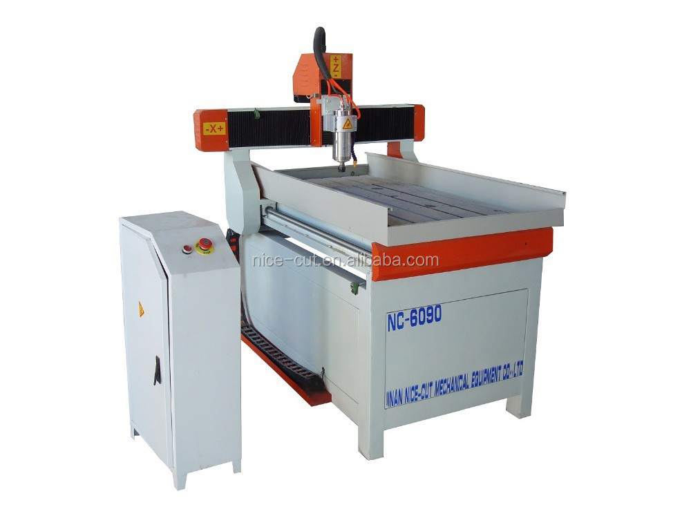 NC-6090 machine advertisement router 4 axis 3d wood cutting machine