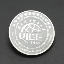 OEM silver gold plated tungsten metal commemorative coin replica for sale