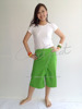 100% Thai Cotton Gypsy Hippie Pants Irish Green Short Wrap Trousers Thai Fashion