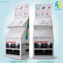 Advertising cardboard promotional car accessories display shelf