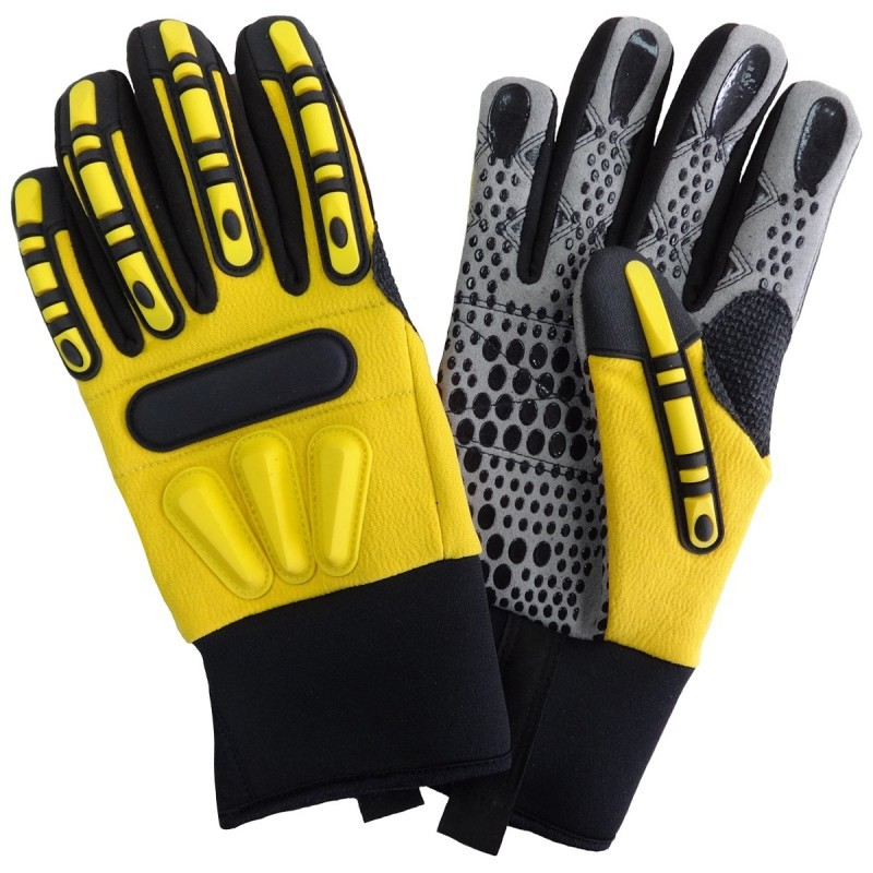 Mechanics Work Anti Vibration Hi Impact Gloves