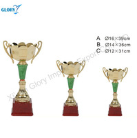 Wholesale Golden Metal Trophy Cup Parts With Red Base