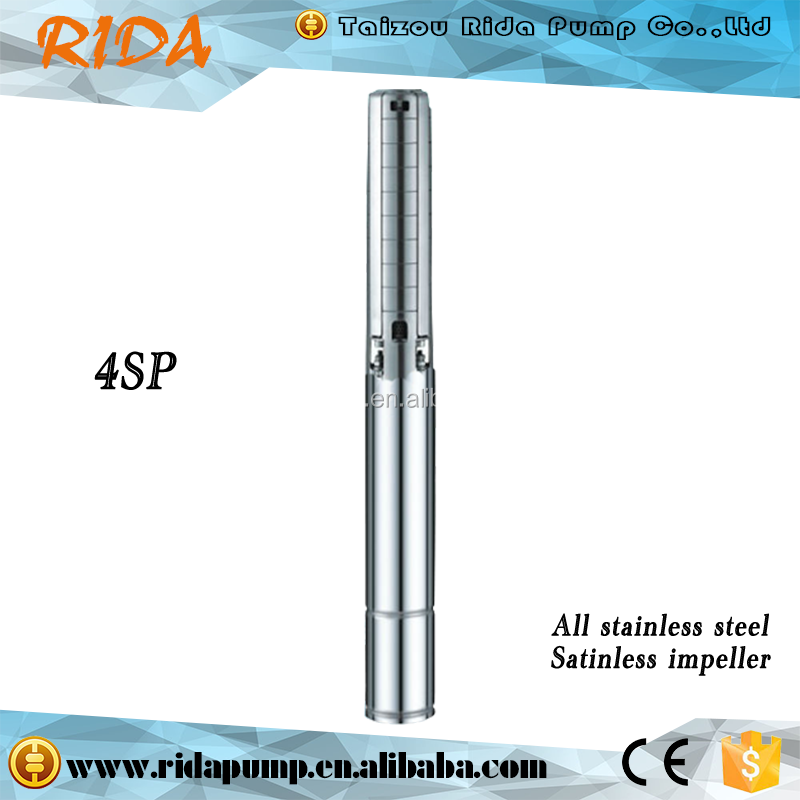 Rida AC pump 1.5kw 2hp Outlet 2 Inches Agricultural Stainless Steel Deep Well Submersible Centrifugal Pump