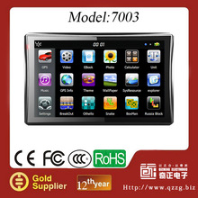 2014 hot 7.0-inch TFT Touch screen GPS Navigator with buliding in 128M+4G 480 x 800-pixel Resolutions and Built-in Speaker
