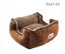 wholesale alibaba best selling products new premium dog kennel soft warm coffee hamburge luxury pet dog cat beds in the bed room