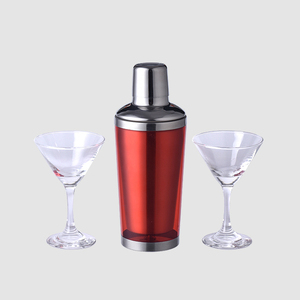 China factory 350ml stainless steel cocktail mixer martini shaker set