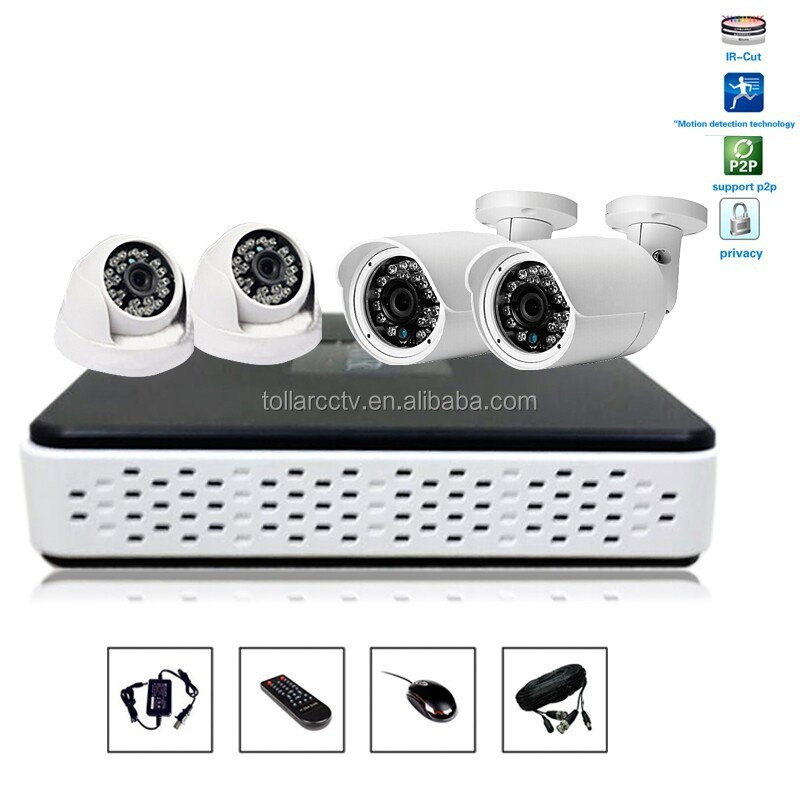 Cctv housing video camera with dvr used day night cctv camera 4ch HD 720p cctv kit