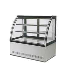 stainless steel single arc cake display cabinet refrigerate