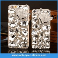 Main product custom design crystal pc case for iphone 6 plus with diamonds made in china