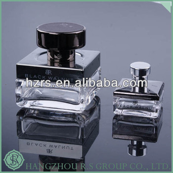 Zinc Alloy Cap Luxury Perfume Bottle 100mL,Crystal Perfume Bottle