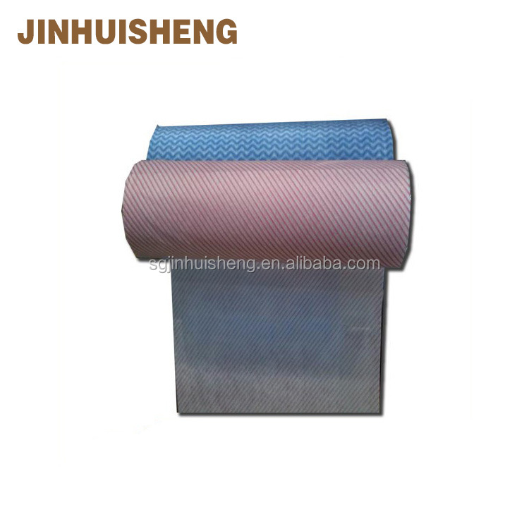 Red 100% polyester chemical bond nonwoven fabric flower wrapping for Indonesia market