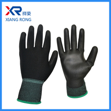 13G Light industrial use pu coated thin nylon lined safety working glove