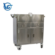 Hot sale stainless steel hospital linen trolley for surgical instrument trolley