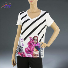 Simply Design Custom High Quality Sublimation Printed T Shirt for Women