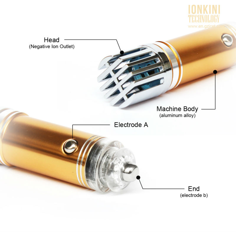 Ionkini Premium Golden Car Air Purifier JO-6276 (4,000,000 pcs/cm3 Negative Ion Concentration)