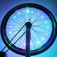 Colorful Ultra Bright Waterproof Bike Wheel Light String Tire Lamp Bicycle Spoke Light
