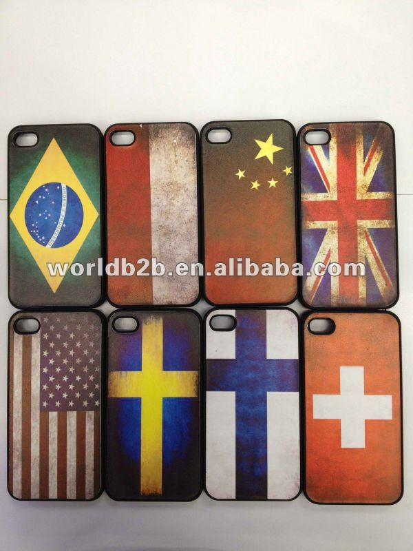 Retro Flag Hard Case Cover for iPhone 4 4S