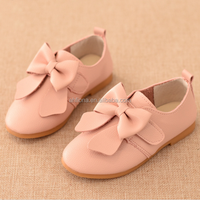 F10109E Korean style children casual shoes classical girls bowknot shoes