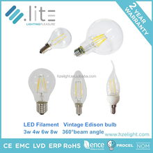 2015 new type standard A60 c35 c37 c37t g95 2w 4w 6w 8w 360d led filament bulb light