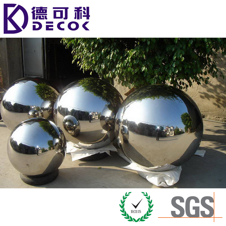 Stainless Steel Hollow Mirror ball Metal ball Garden Decoration ball