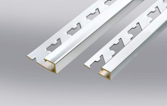 Perfil de aluminio decorativo borde cuadrado perfiles de - Perfil cuadrado aluminio ...