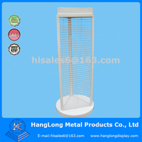 triangle shape rotating metal display stand for hanger