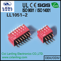 2.54mm dip switch standard right angle 9 positons