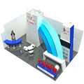 Detian Offer security display stand 10x20 booth exhibition display easy with exhibition carpet