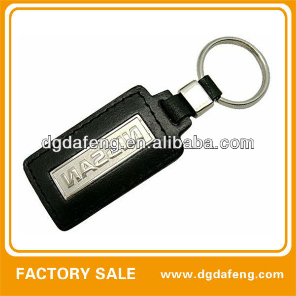 leather nissan car key chain