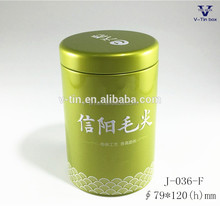 Dongguan decorative round shape high quality tea tin box