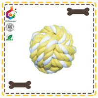 Handmade yellow customized dog chew toy ball for pet to bite