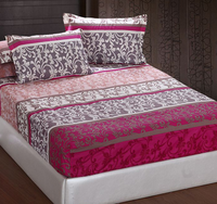 wholesale custom print fitted bed sheet, queen size fitted sheet with zipper