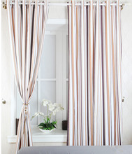 ALLBRIGHT polyester fabric made strip simple curtain design good curtain