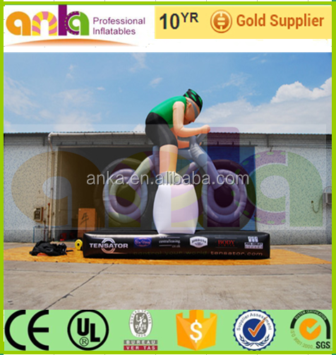 Custom design replica inflatable cyclist model for advertising ( Rent, ANKA)