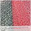 Wholesale news-style 100 polyester leopard print elastic fabric for dress/garment