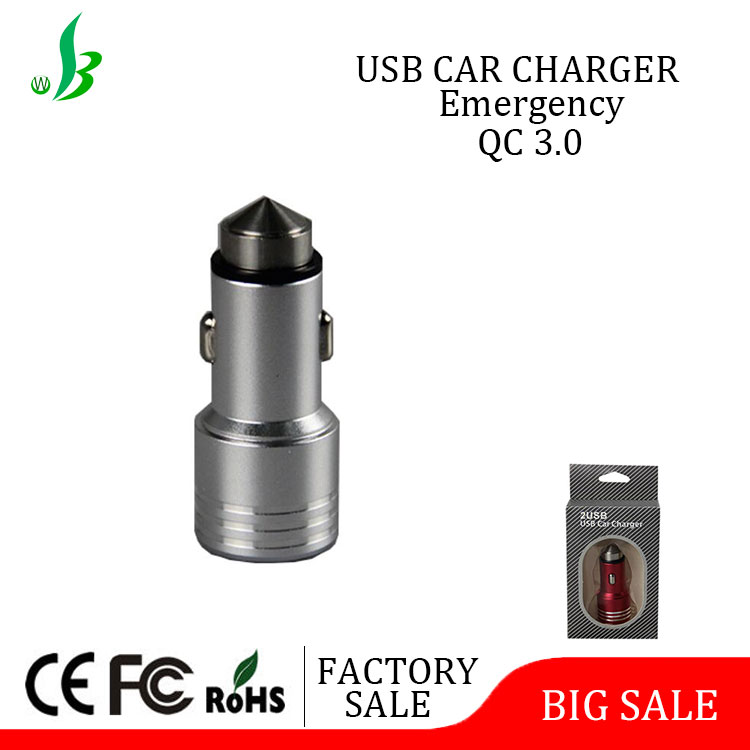 high quality daul usb led car charger for mobile phone