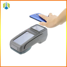 Smart touch payment pos system with 2D barcode software thermal printer ICand RFID reader make easy payment -Gc028+