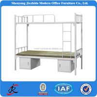2016 High quantity 2 level army furniture supplier cheap military metal bed frame
